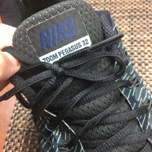 new arrival b55e2 63148 Men's Nike Zoom Pegasus 32 Navy/Green/Black size13